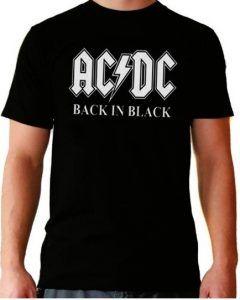 camiseta ac/dc hombre