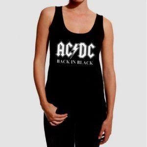 camiseta ac/dc mujer